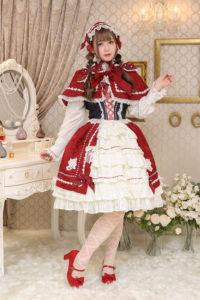 おとぎの国の赤ずきんちゃんケープジャンパースカート