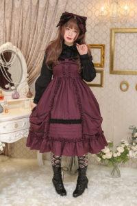 Dolly Ribbonミニ袖ジャンパースカート